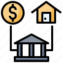 buildings, estate, house, loan, real, sale, sell icon
