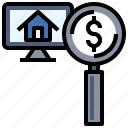 booking, click, estate, house, online, real, sale icon
