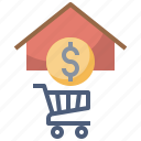 architecture, building, buy, house, payments, sale, sell icon
