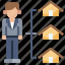 estate, residential, landlord, real, rental, housing icon