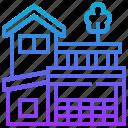 asset, duplex, home, house, storey icon