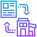 agreement, lease, property, renewal, renovation icon