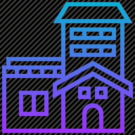 estate, house, property, rent, tenement icon