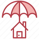 estate, insurance, real, renter, protection, asset, home icon