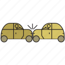 accident, automobile, car accident, cars, crash, travel, vehicle icon