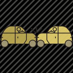 accident, automobile, car accident, cars, crash, travel, vehicle icon