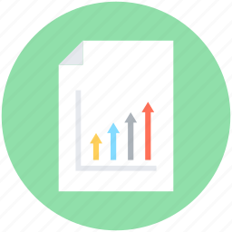 analysis, graph report, growth chart, report, stock report icon