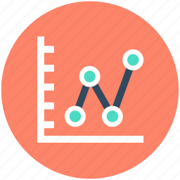 analytics, business chart, economy graph, financial chart, statistics icon