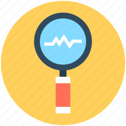 graphic, infographics, line graph, search chart, search graph icon