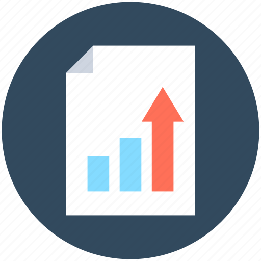 analytics, business document, data page, graphic report, report icon