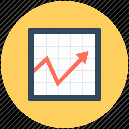 graph, growth chart, line chart, line graph, progress chart icon