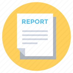 account, business report, document, file, report icon