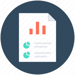 analysis, analytical report, business document, graph, report icon