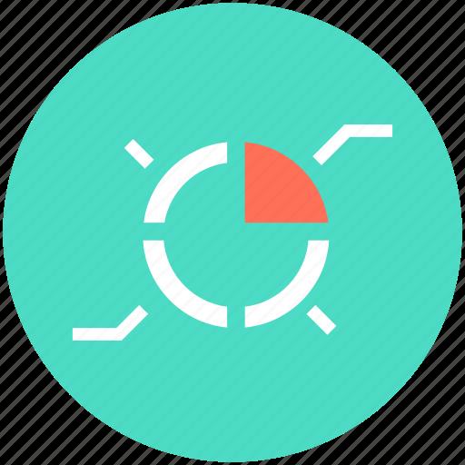 analytics, business chart, pie chart, pie graph, statistics icon