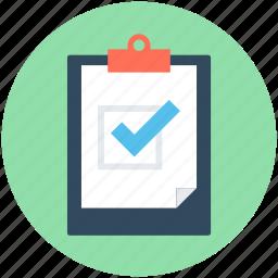 checklist, clipboard, list, memo, task icon