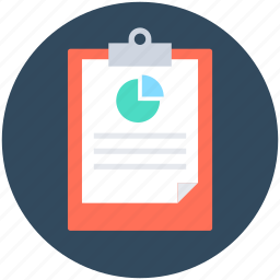 analysis report, clipboard, document, file, report icon