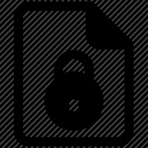 analytics, document, file, lock, page, security, statistics icon