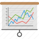 run charts, curve fitting, line graph, financial chart, statistical chart, line chart icon