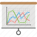 curve fitting, financial chart, line chart, line graph, run charts, statistical chart icon