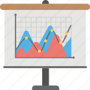 area chart, data visualization, graphical representation, scatter graph charting, scatter plot icon