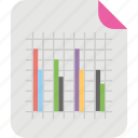 bar chart, bar graph, column graph, graphical representation, vertical bar graph icon