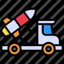 rocket truck, van, vehicle, transport, travel, car