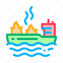 equipment, fire, helicopter, linear, rescuer, ship, tornado icon