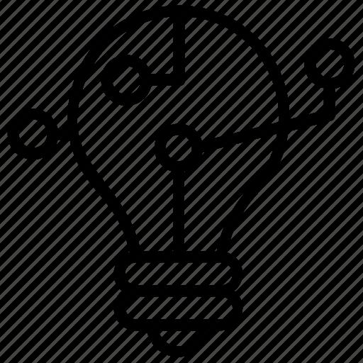 business idea, creative idea, idea creation, idea generation, innovative idea icon