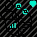 analysis, business, consumer, performance, visualisation icon