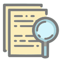 data, analysis, literature review, data analysis, document, search icon