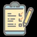 questionnaire, survey, checklist, list, clipboard, check, mark icon