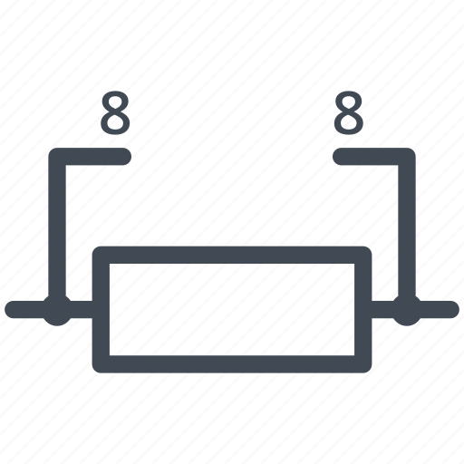 array, circuit, diagram, electric, electronic, resistor, resistor array icon