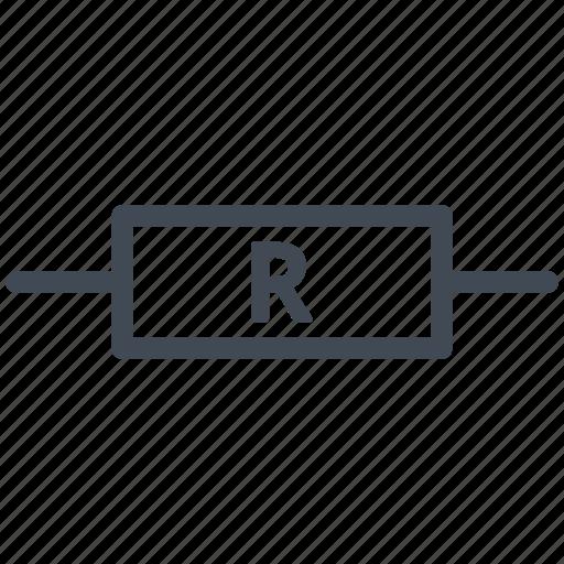 circuit, diagram, electric, electronic, nonreactive resistance, resistor icon