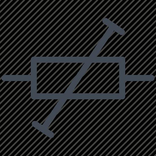 circuit, diagram, electric, electronic, pre-set resistor icon