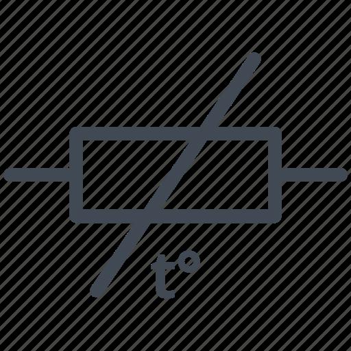circuit, detector, diagram, electric, resistance temperature detector, rtd, temperature resistor icon