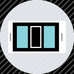 column, device, layout, mobile, ux, web icon
