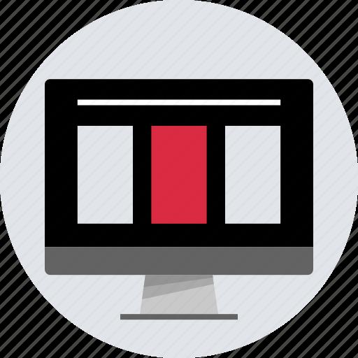 banners, columns, design, mac, pc, responsive icon