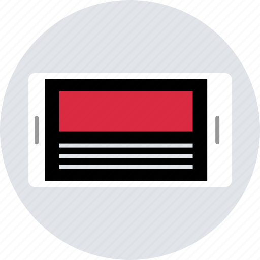 design, layout, mobile, news, page, ux, web icon