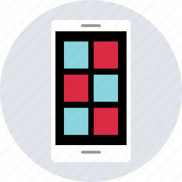cell, design, grid, layout, mobile, phone, responsive icon