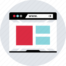 browser, design, grid, layout, responsive, ux, web icon
