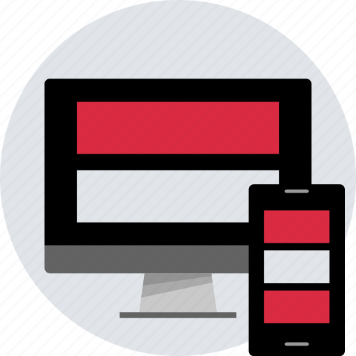 design, layout, pc, phone, responsive, website icon