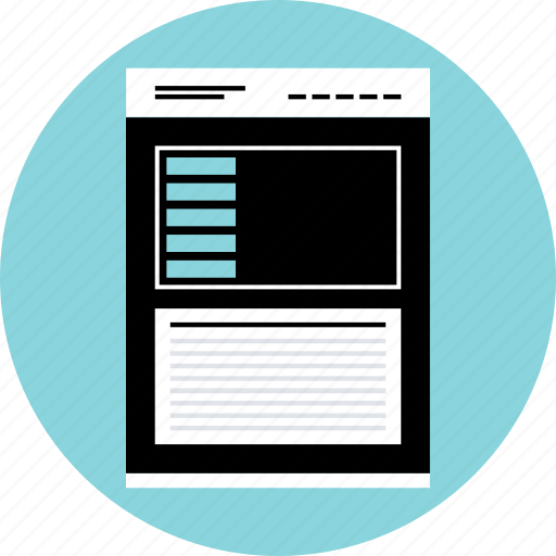 mockup, photo, quicklinks, webpage, website, wireframe icon