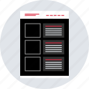 blog, mockup, post, webpage, website, wireframe icon