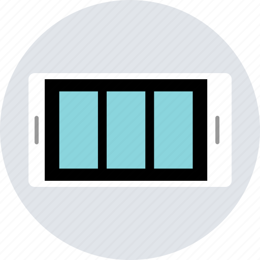 cell, design, landscape, layout, mobile, responsive, window icon