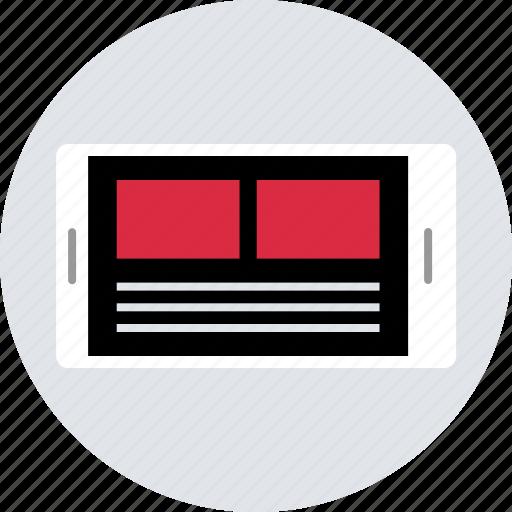 design, landscape, mobile, newsletter, page, ux icon