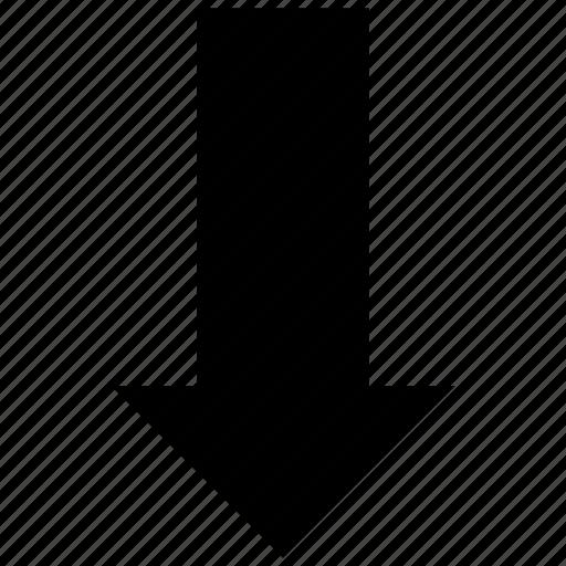 arrow, down, down arrow, entering, multimedia option icon