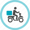 delivery, fast, parcel, quick, take-out, to go, wheels icon
