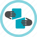 bill, check, divide, share, split, network, sharing icon