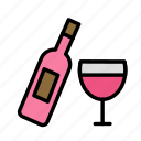drink, food, meal, serve, wine icon