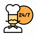 available, chef, drink, food, meal icon